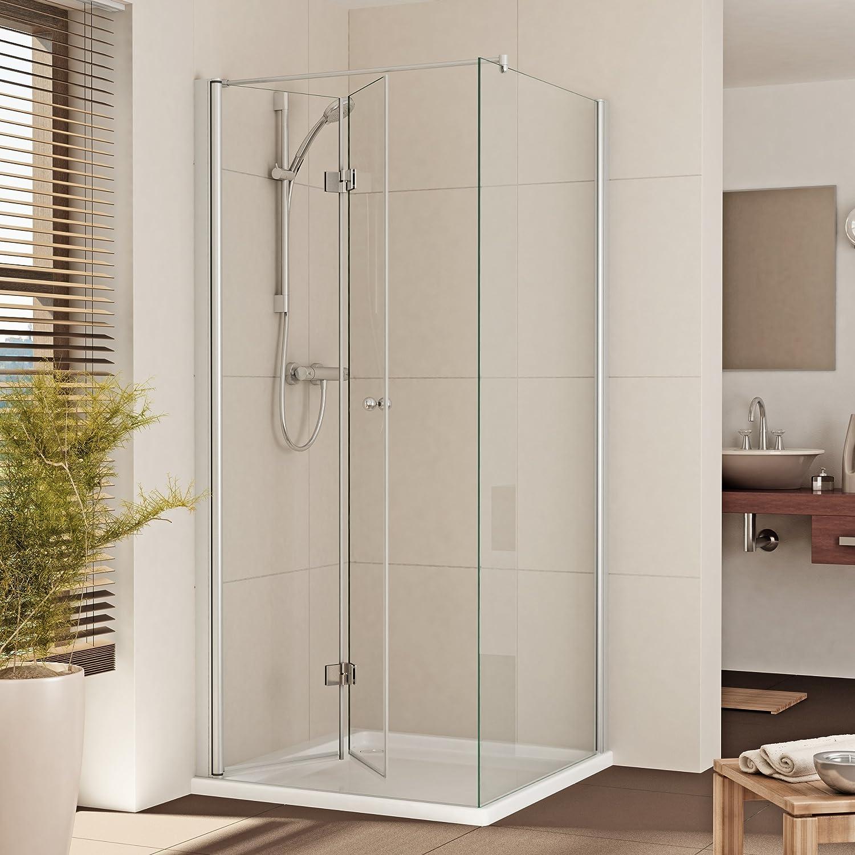 Mampara de ducha cabina de ducha Puerta - B: 80 - 120 cm - un ...