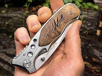 Amazon.com: Grabado groomsmen regalo personalizado cuchillo ...