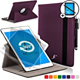 ForeFront Cases® New Leather Rotating Case Cover for Samsung Galaxy Tab S 10.5 T700 (Released July 2014) – Full device protection and Smart Auto Sleep Wake function with 3 YEAR FOREFRONT CASES WARRANTY + STYLUS & SCREEN PROTECTOR