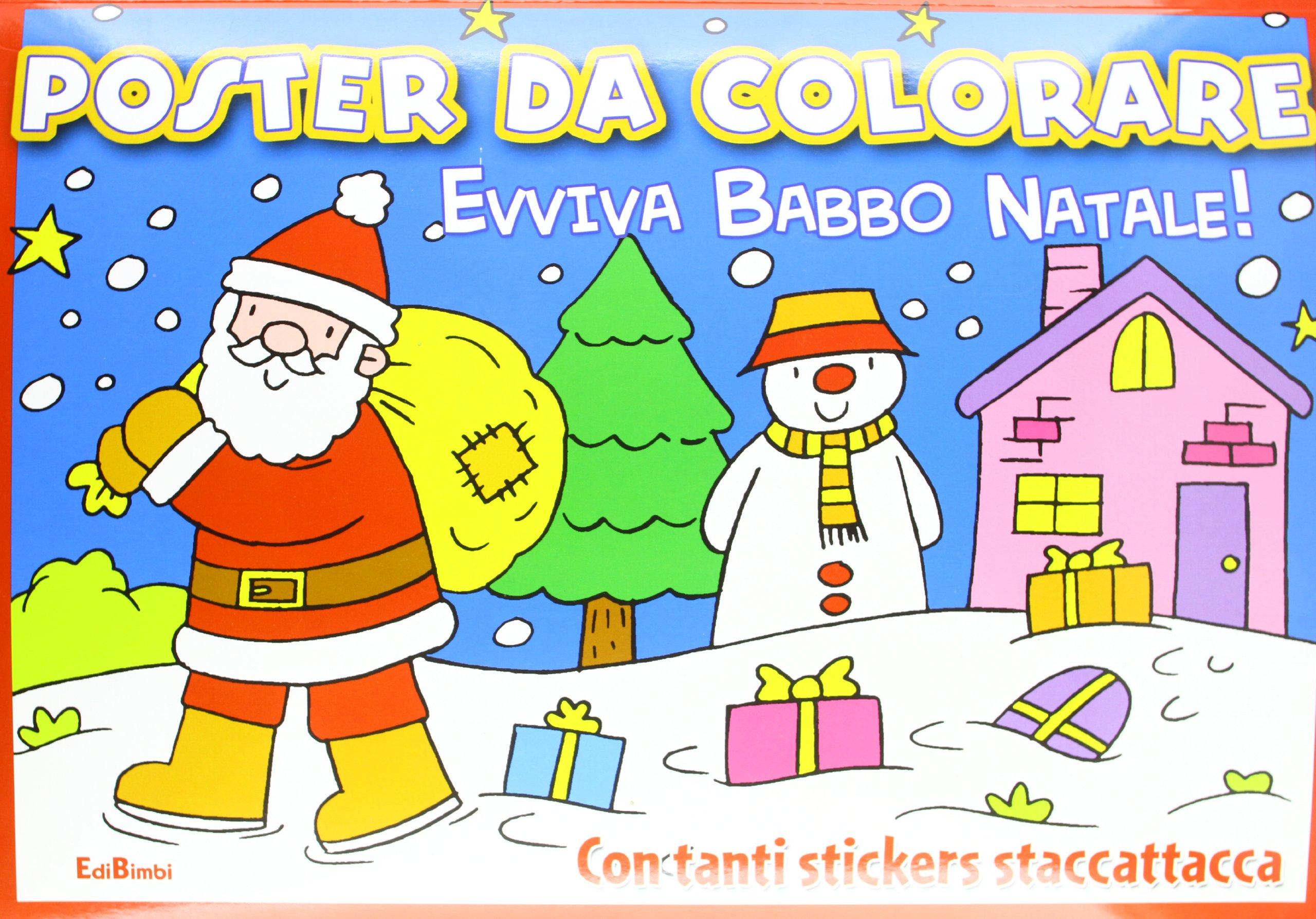 Evviva Babbo Natale La Slitta Di Babbo Natale Poster Da Colorare