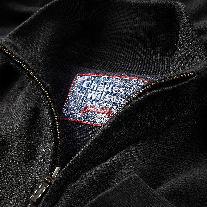 Charles Wilson Jersey con Cremallera Cuello de Algod/ón para Hombre