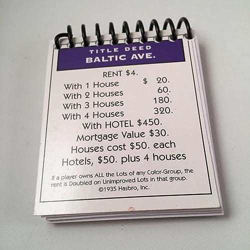 Amazoncom Monopoly Title Deed Notebook Balticmediterranean Ave