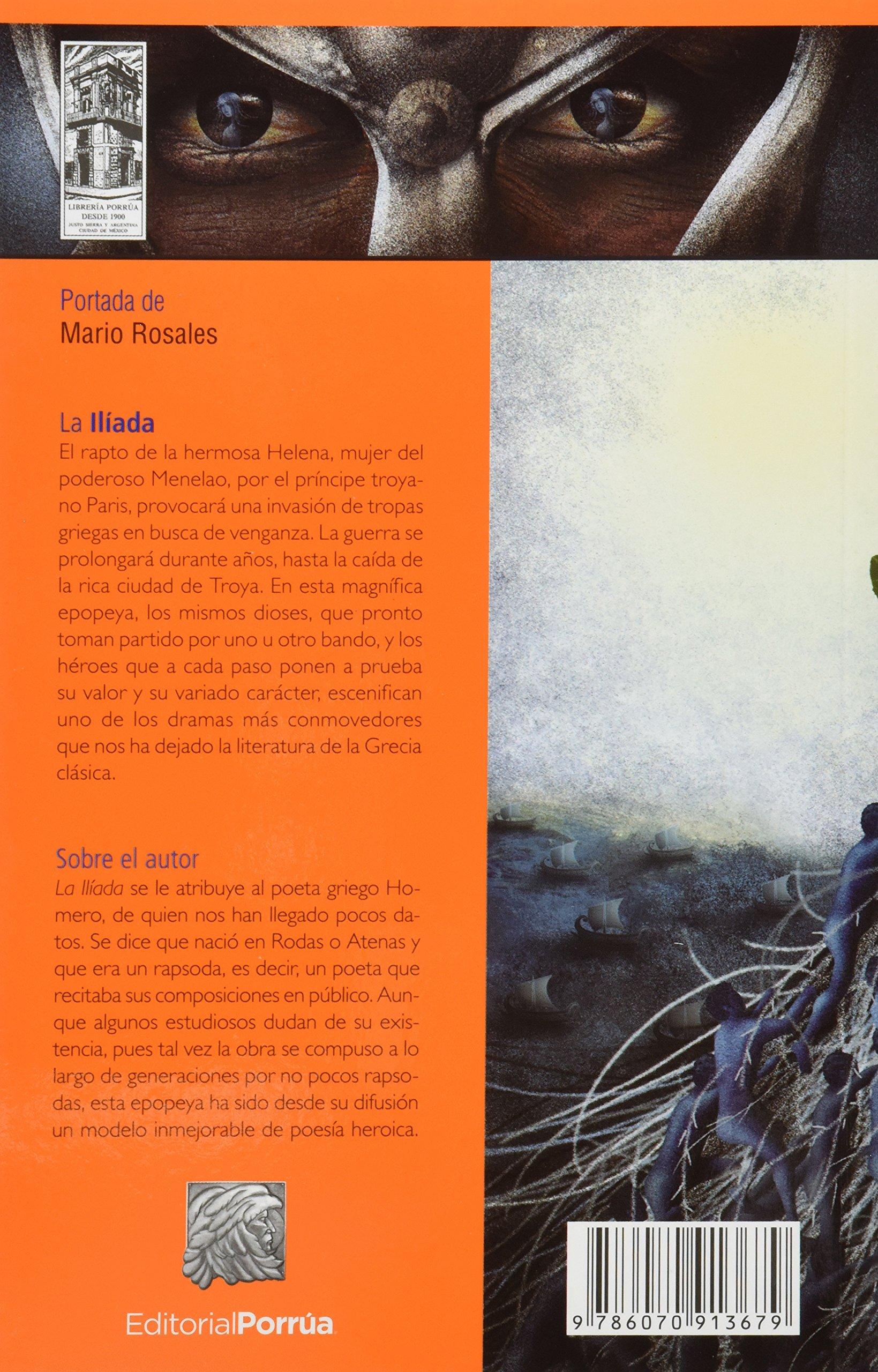 La Iliada (portada puede variar): Homero, Editorial Porrúa S.A. de C.V.:  Amazon.com.mx: Libros