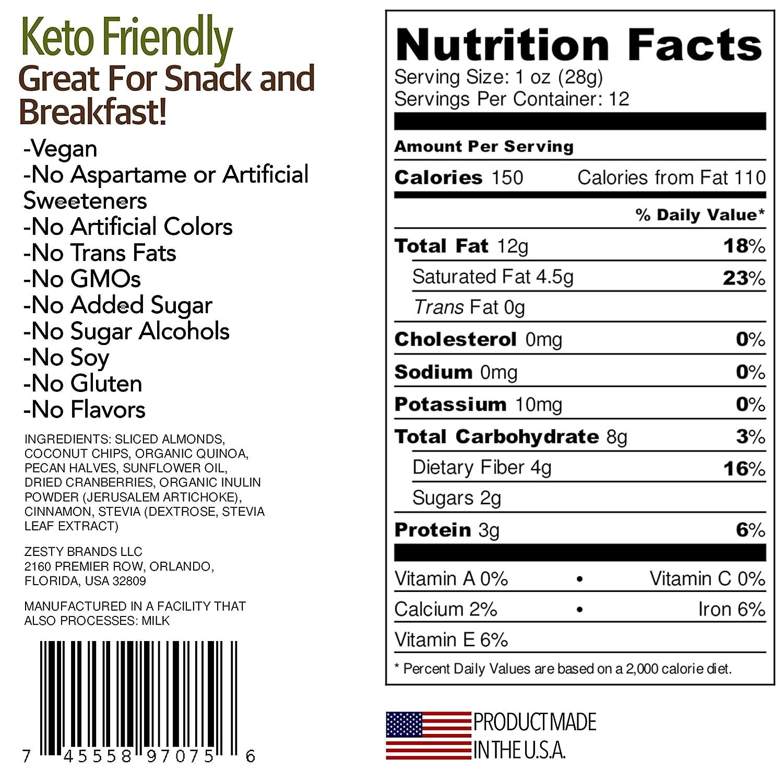 Diabetic Awsum Snacks 12 oz mezcla canela Pecan orgánico ...