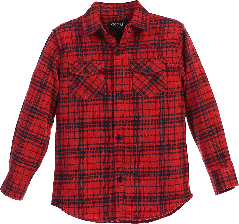 Carhartt Boys Plaid Button Up Long Sleeve Shirt Red /& Black Size 5