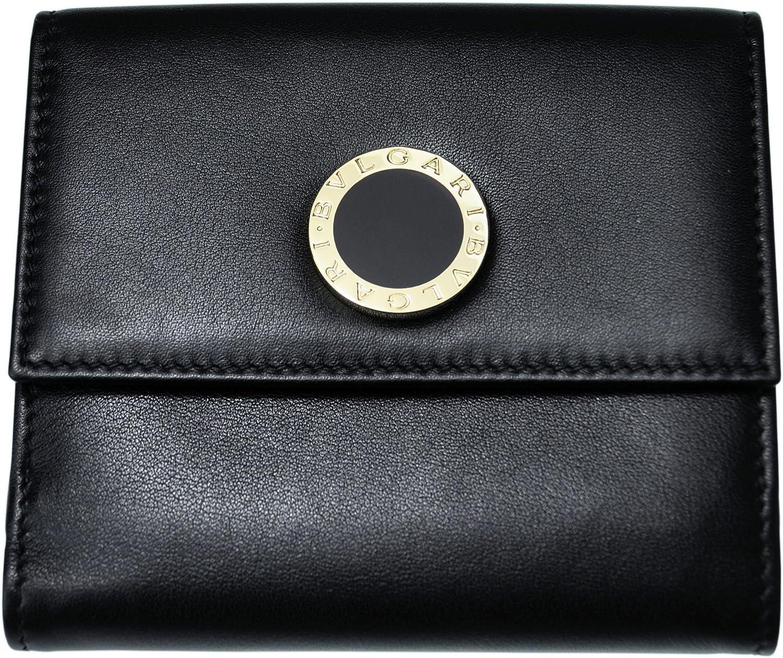 BVLGARI 【ブルガリ】 ボタンホック開閉式二つ折り財布 32384 ブラック BB COLOR B01JZCBVQK