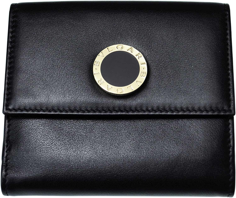 BVLGARI 【ブルガリ】 ボタンホック開閉式二つ折り財布 32384 ブラック BB COLOR B00RF3HPIA