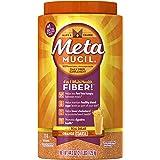 Metamucil Daily Fiber Supplement, Orange Coarse Sugar Psyllium Husk Fiber Powder, 114 Doses