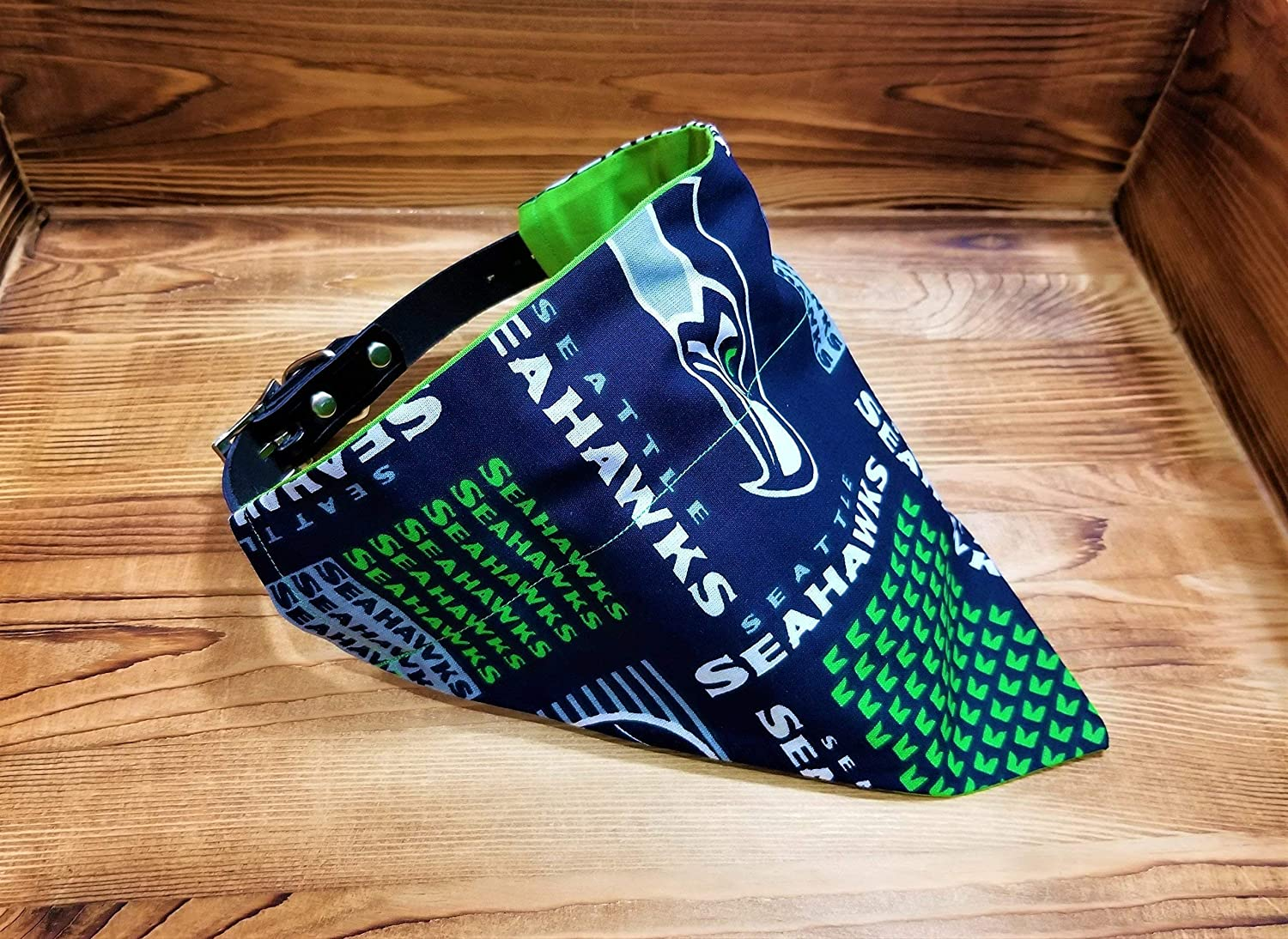 Seattle Seahawks Dog Bandana No-Tie Design