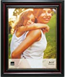 Kiera Grace Lucy Picture Frame, 8 by 10-Inch - Dark Brown with Gold Beading