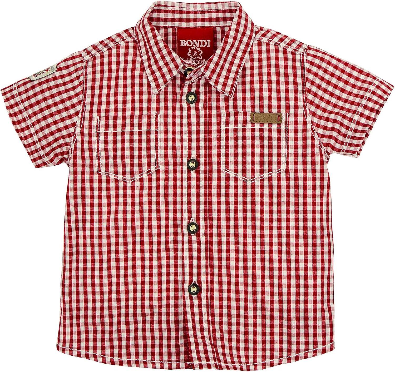 BONDI Trachtenhemd Kurzarm Tracht Baby Jungs Artikel-Nr.91125