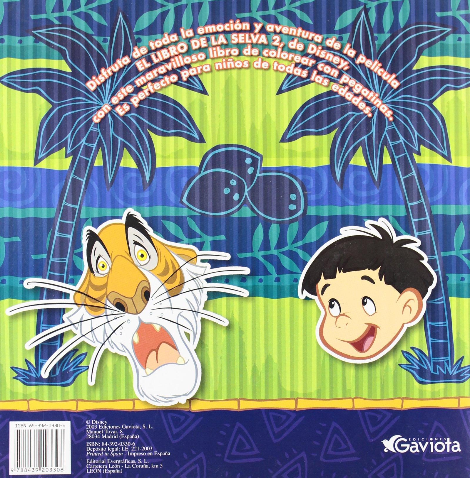 El Libro de la Selva 2 (Coloreo con pegatinas): Amazon.es: Walt Disney Company: Libros