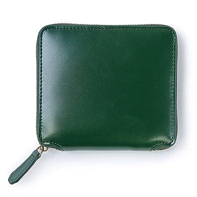 b2926247ca20 Amazon   MURA 財布 メンズ 二つ折り 本革 ファスナー 10枚カード収納 緑 ...