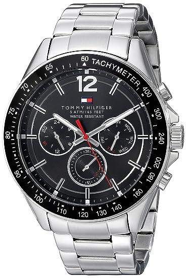 24db37ac3b1 Tommy Hilfiger 1791104 Reloj Plateado de Cuarzo con Visualización Analógica  Deportivo y Sofisticado para hombre