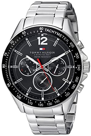 360f2779 Image Unavailable. Image not available for. Color: Tommy Hilfiger Men's  1791104 Sophisticated Sport Analog Display Quartz Silver Watch