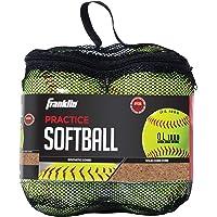MLB Franklin Sports Pelotas de sóftbol para práctica, 4 Unidades, Amarillo, 30.48 cm (12 Pulgadas)