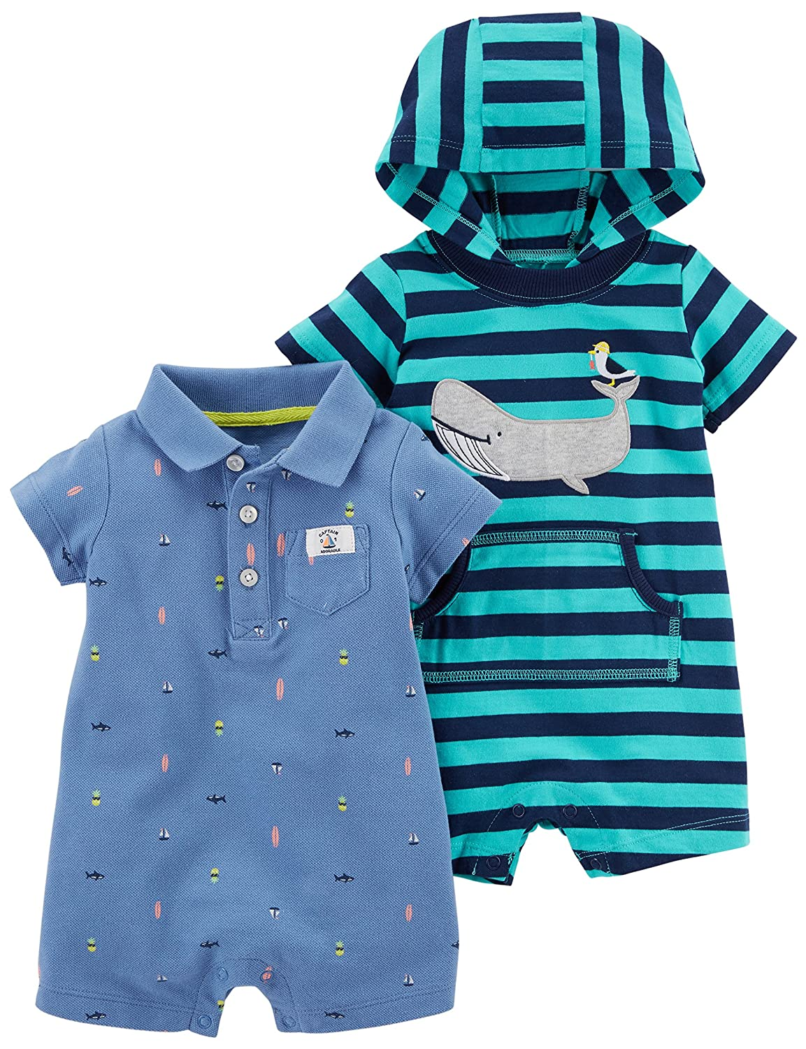 Carters Baby Boys One Piece Rompers Pack of 2