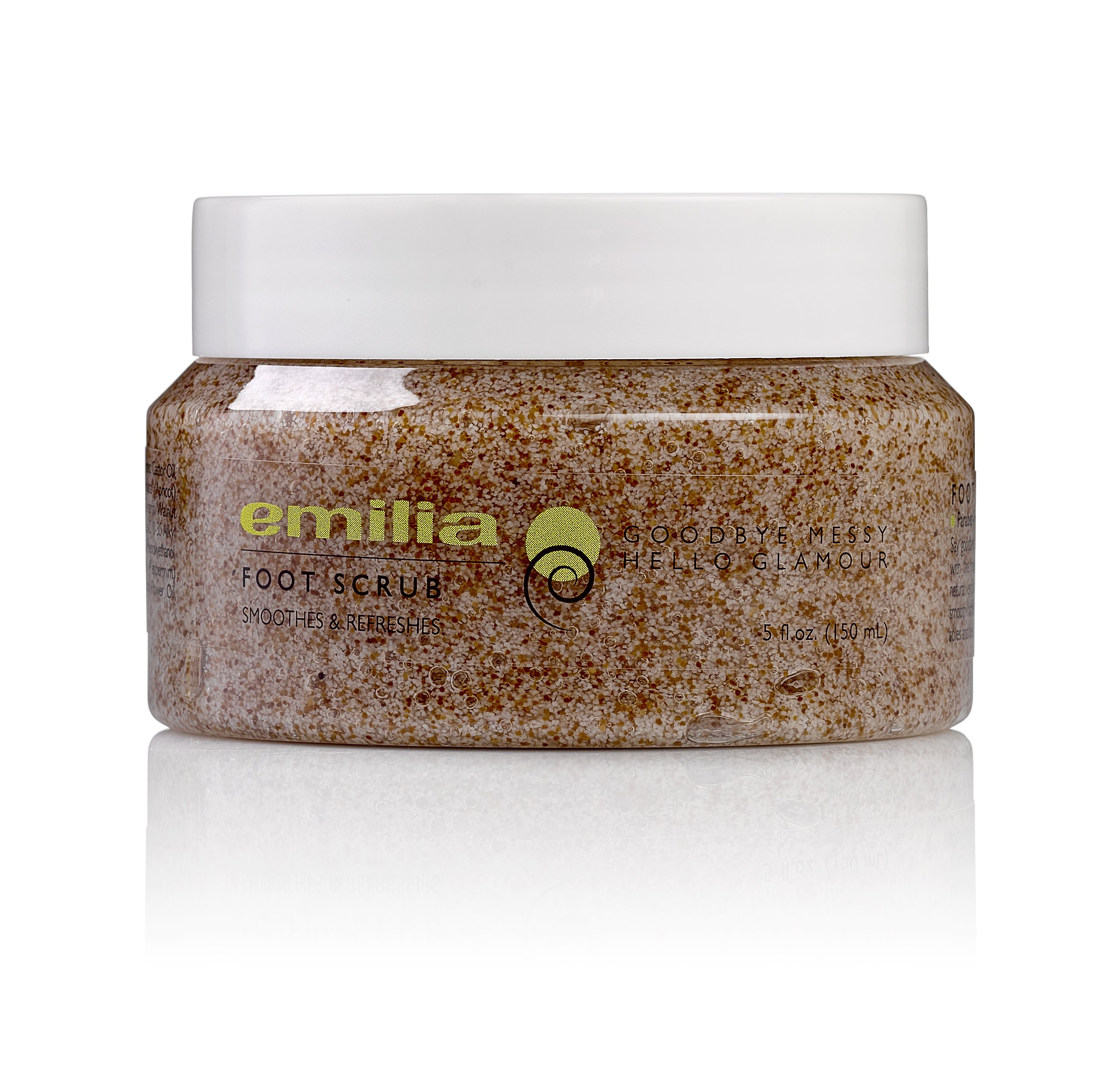 Emilia Peppermint Oil Foot Scrub With Dead Sea Minerals, Natural Exfoliating Spa Pedicure Scrub For Callus Removal and General Foot Care Perfect for Rough Soles and Heels Skin by Emilia