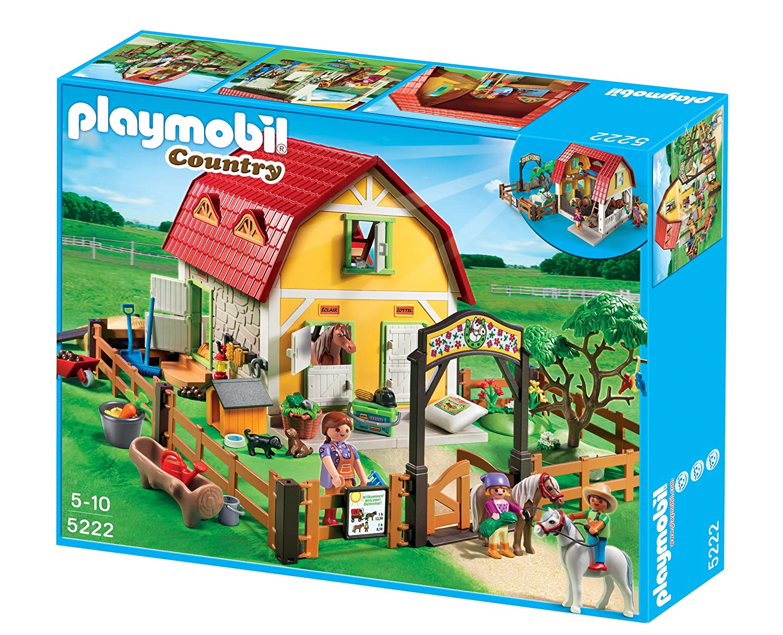 De Ranch Avec PoneysAmazon Construction Playmobil 5222 Jeu bfmY7gyvI6