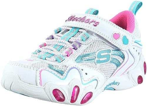 Skechers Fireflies 10168L - Zapatillas de lona para niña, Blanco, 27: Amazon.es: Zapatos y complementos
