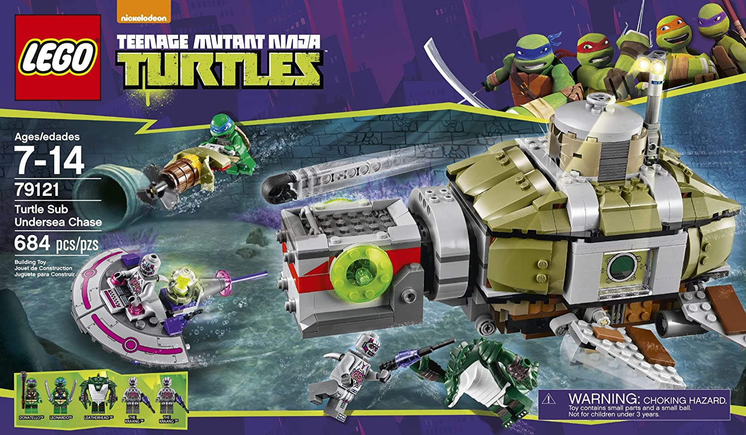 Amazon.com: LEGO Ninja Turtles 79121 Turtle Sub Undersea ...