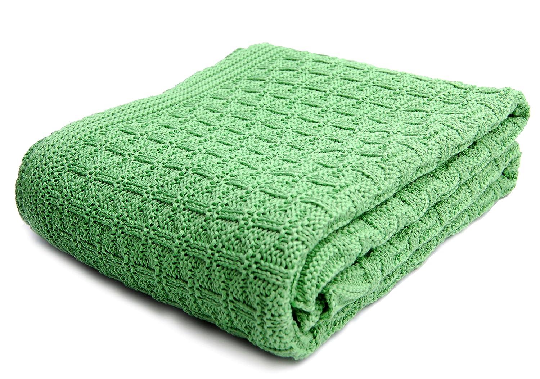 Relaxfair Manta de punto para bebé, algodón orgánico con certificado GOTS, perfecta para la cuna o el carrito, para verano e invierno, tacto suave y ...