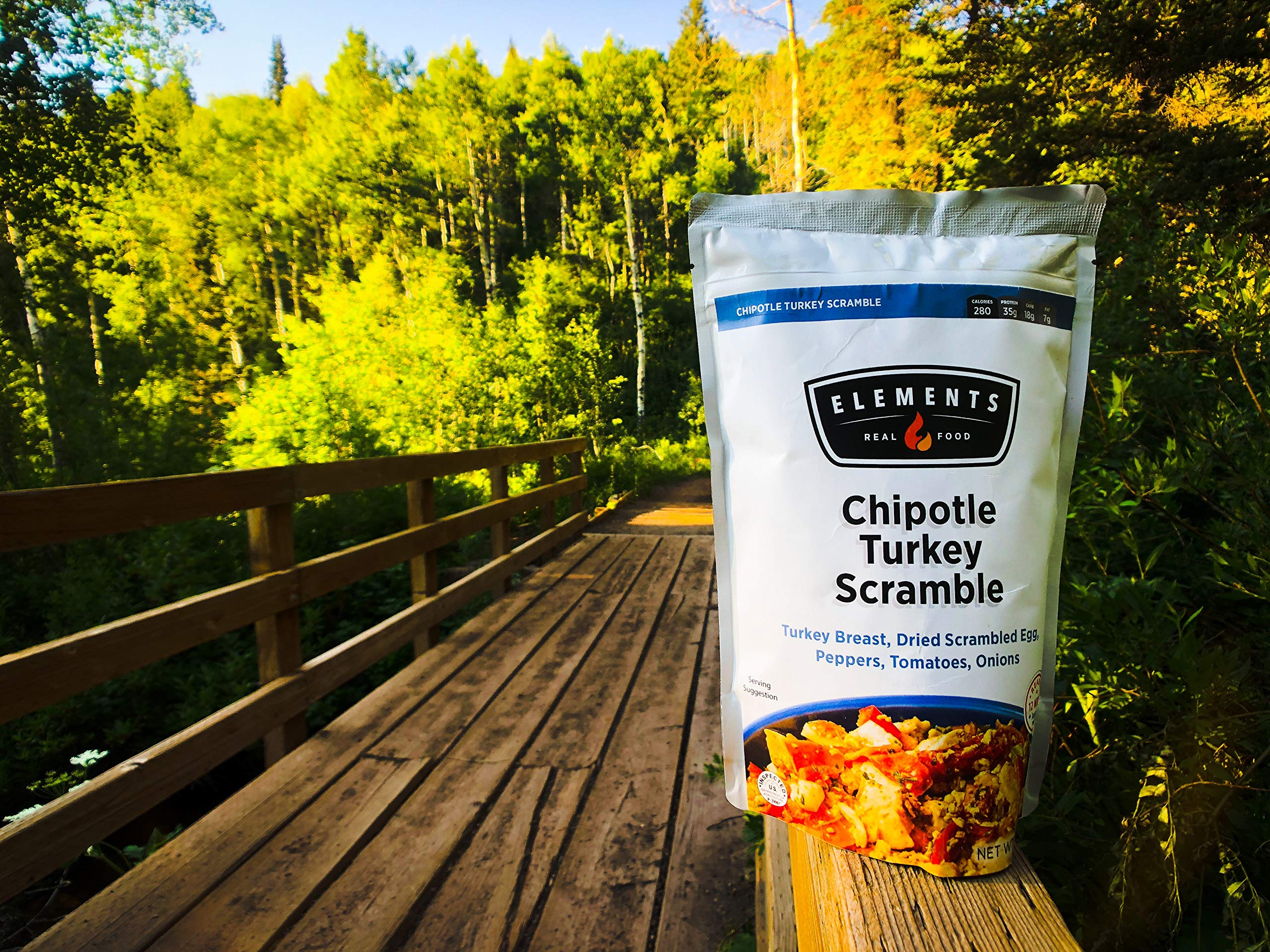 Elements Meals | Chipotle Turkey Scramble | 5-Pack | Healthy Freeze Dried Meals | Paleo-Friendly | Delicious, Backpacking and Camping Food | High Protein by Elements (Image #3)