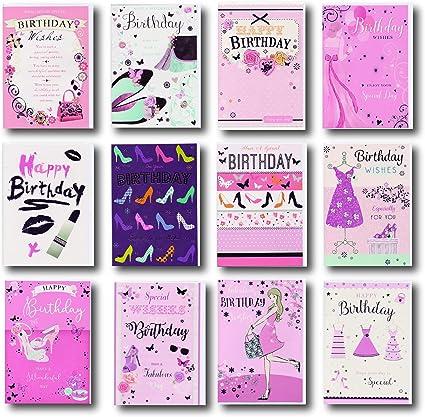 Pack de 12 diferentes tarjetas de cumpleaños – Macho diseño de oso de peluche/perros. Embalado individualmente con sobres.: Amazon.es: Oficina y papelería