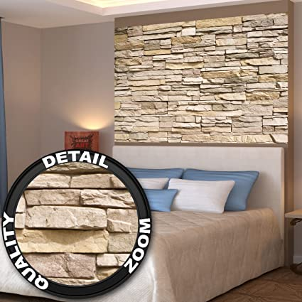 Amazon.com: Poster Noble Stone Wall Mural Decoration Modern Stone ...