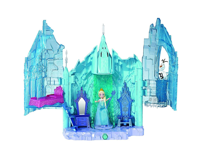 Disney Princesses Bdk38 - Maison De Poupé e - La Reine des Neiges - Le Châ teau De Glace D'Elsa Mattel Maison de poupée