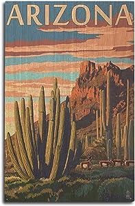 Lantern Press Arizona - Organ Pipe Cactus (10x15 Wood Wall Sign, Wall Decor Ready to Hang)