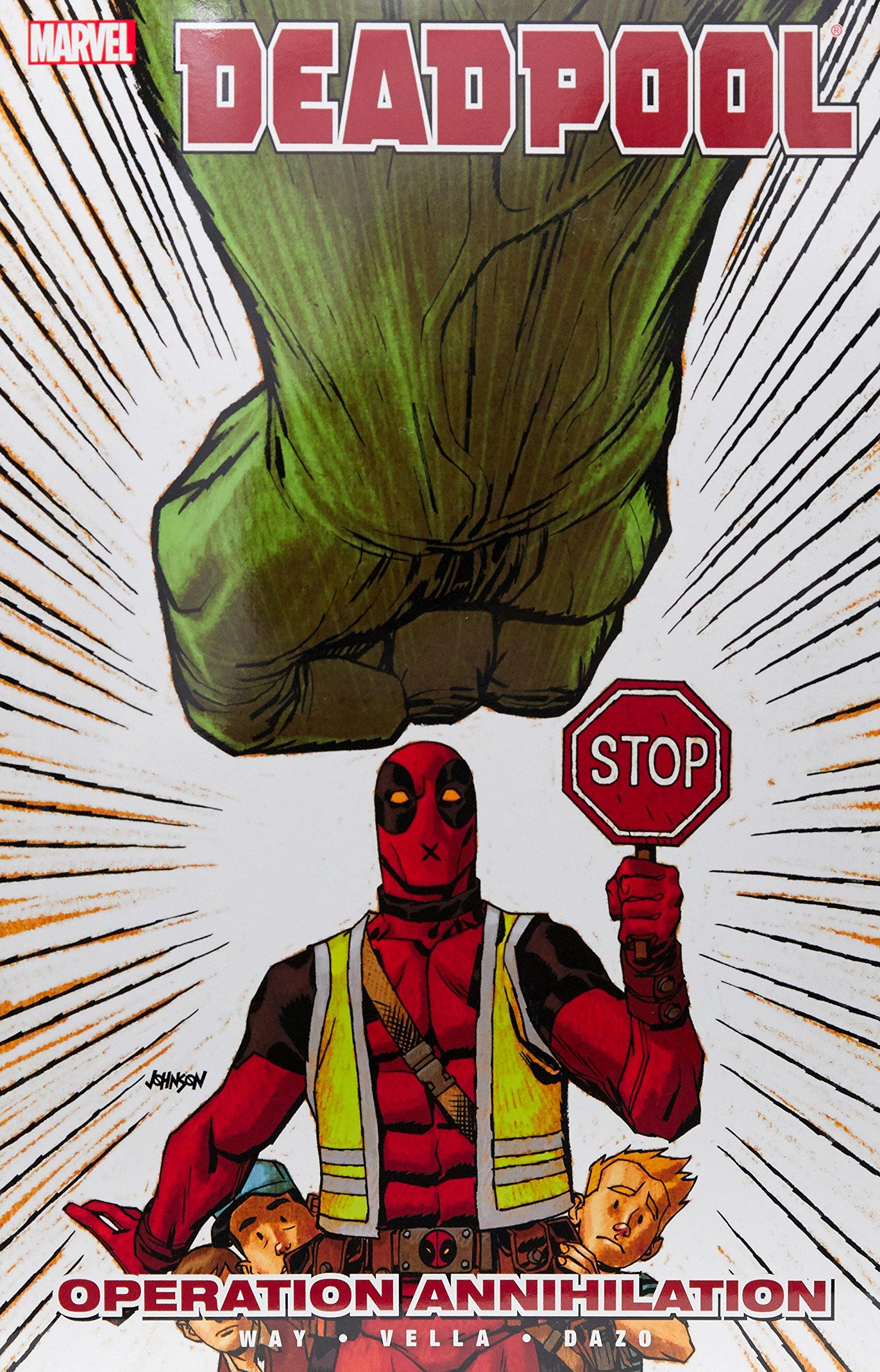 8 Marvel Graphic Novel Comic Book Deadpool Operation Annihilation Vol