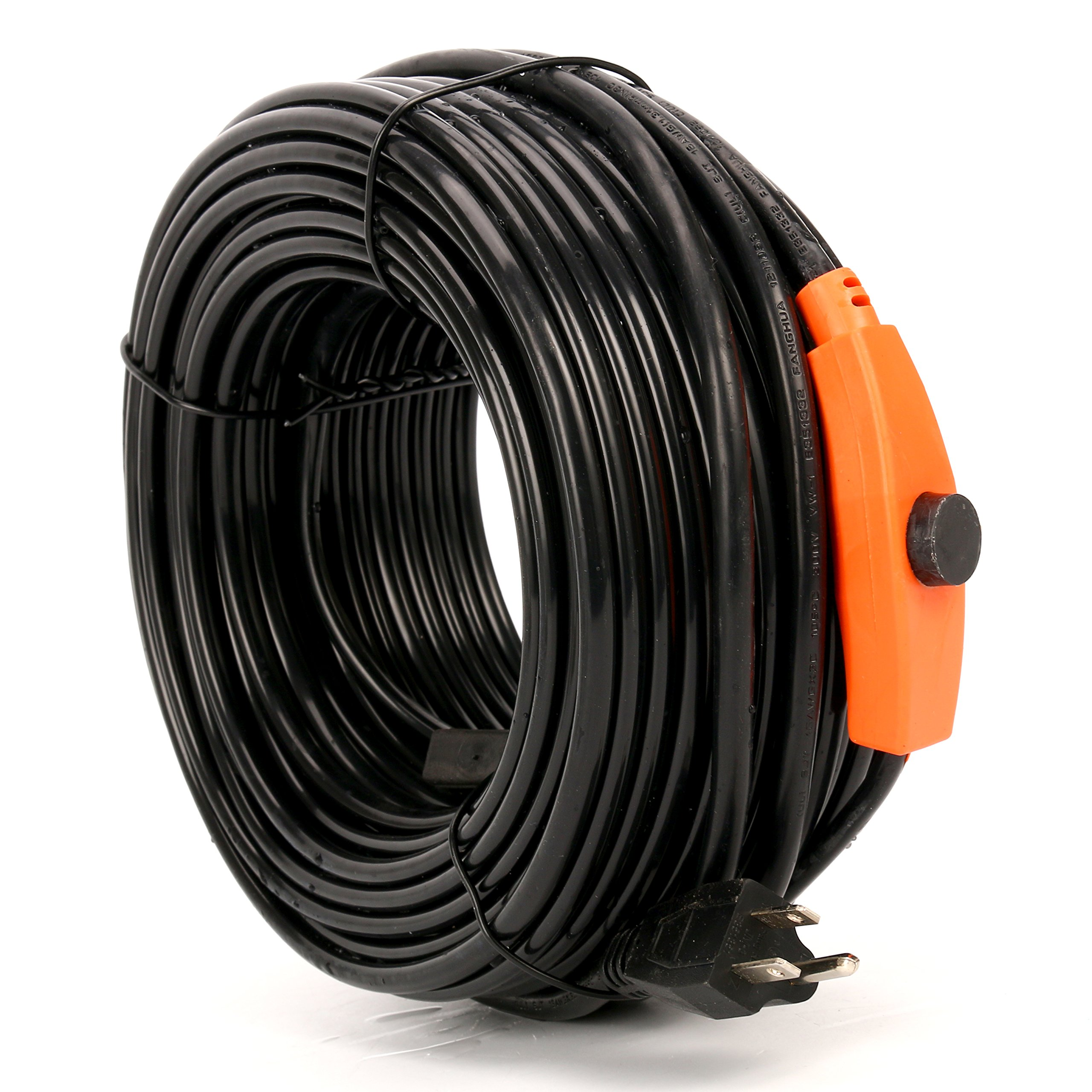 9milelake Heat Roof Gutter De-icing Ice Snow Melter Cable Tape Kit - 120FT , With Thermostat: On:6±3℃ Off:13±3℃