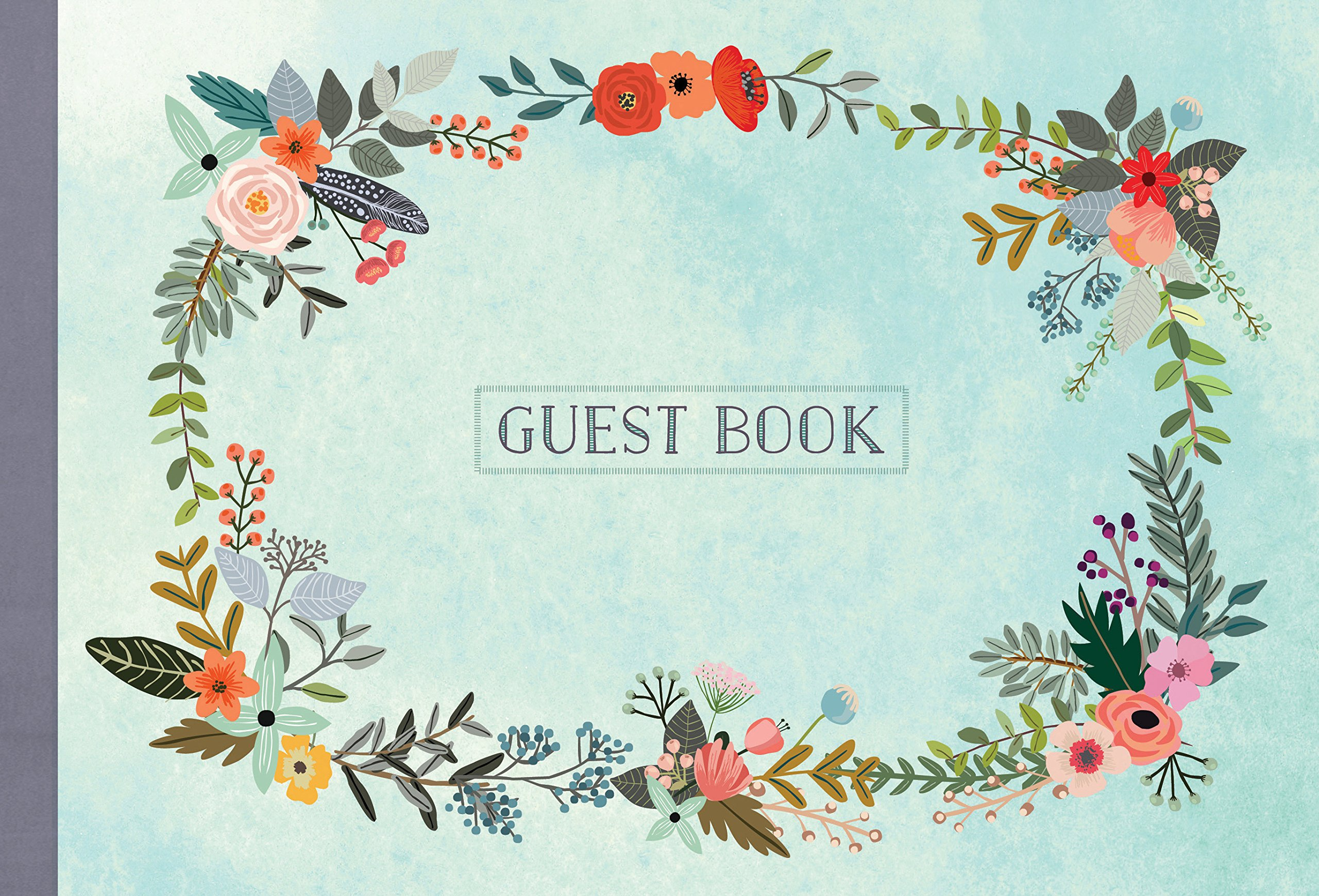 Guest Book: Illustrated Nature Edition: Mia Charro: 9781631061936 ...