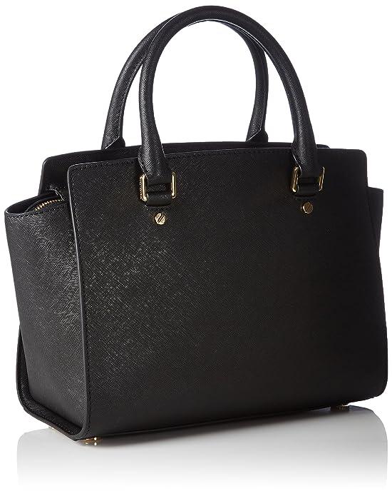 720a548dc5da MICHAEL Michael Kors Selma Satchel, Black, Medium: Handbags: Amazon.com