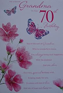 Mum 70th birthday card to a wonderful mum happy 70th birthday for a special grandma on your 70th birthday card bookmarktalkfo