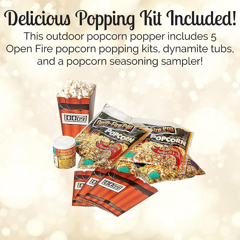 Open Fire Pop Popcorn Popper