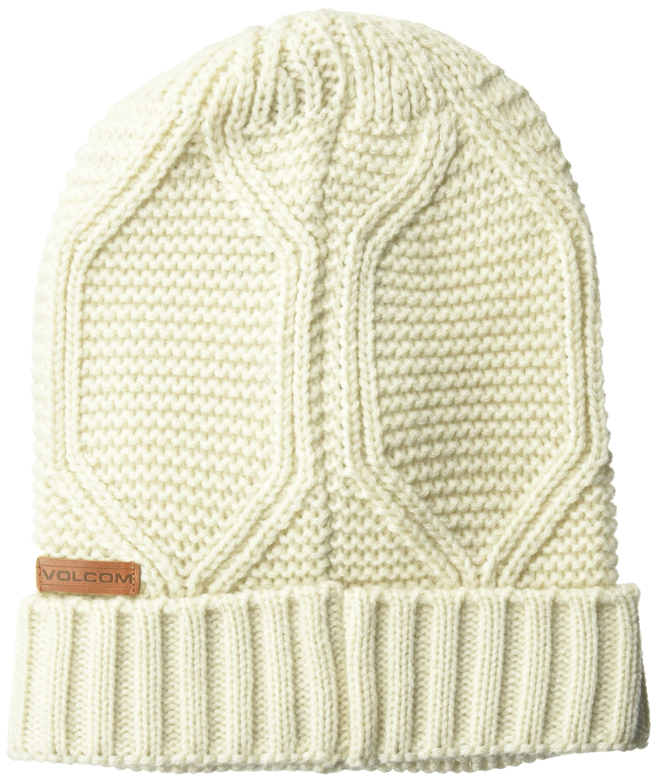 Volcom Junior's Syringa Fine Acrylic Snowboarding Beanie, Natural, ONE Size fits All