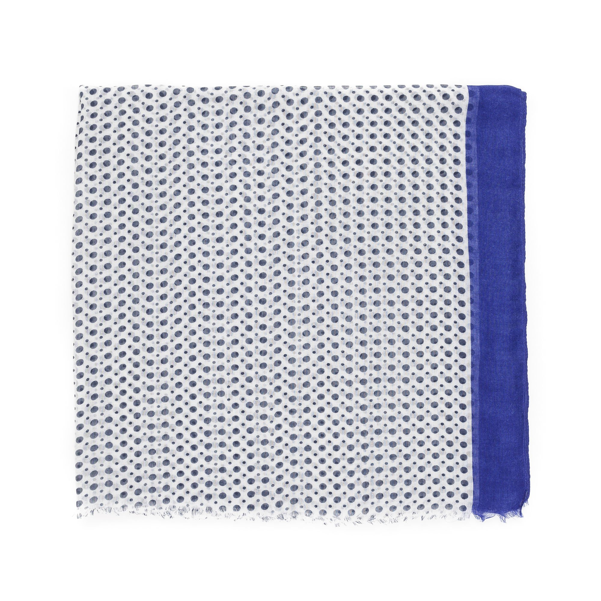 Scarves for Women by MIMOSITO Fashion Lightweight Elegant Geometric Patterned Wrap (Polka Dot-Blue) by MIMOSITO (Image #2)