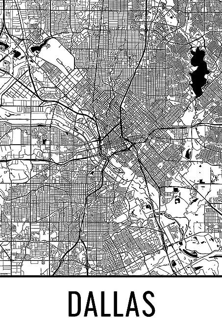 Amazon.com: Dallas Print, Dallas Art, Dallas Map, Dallas Texas