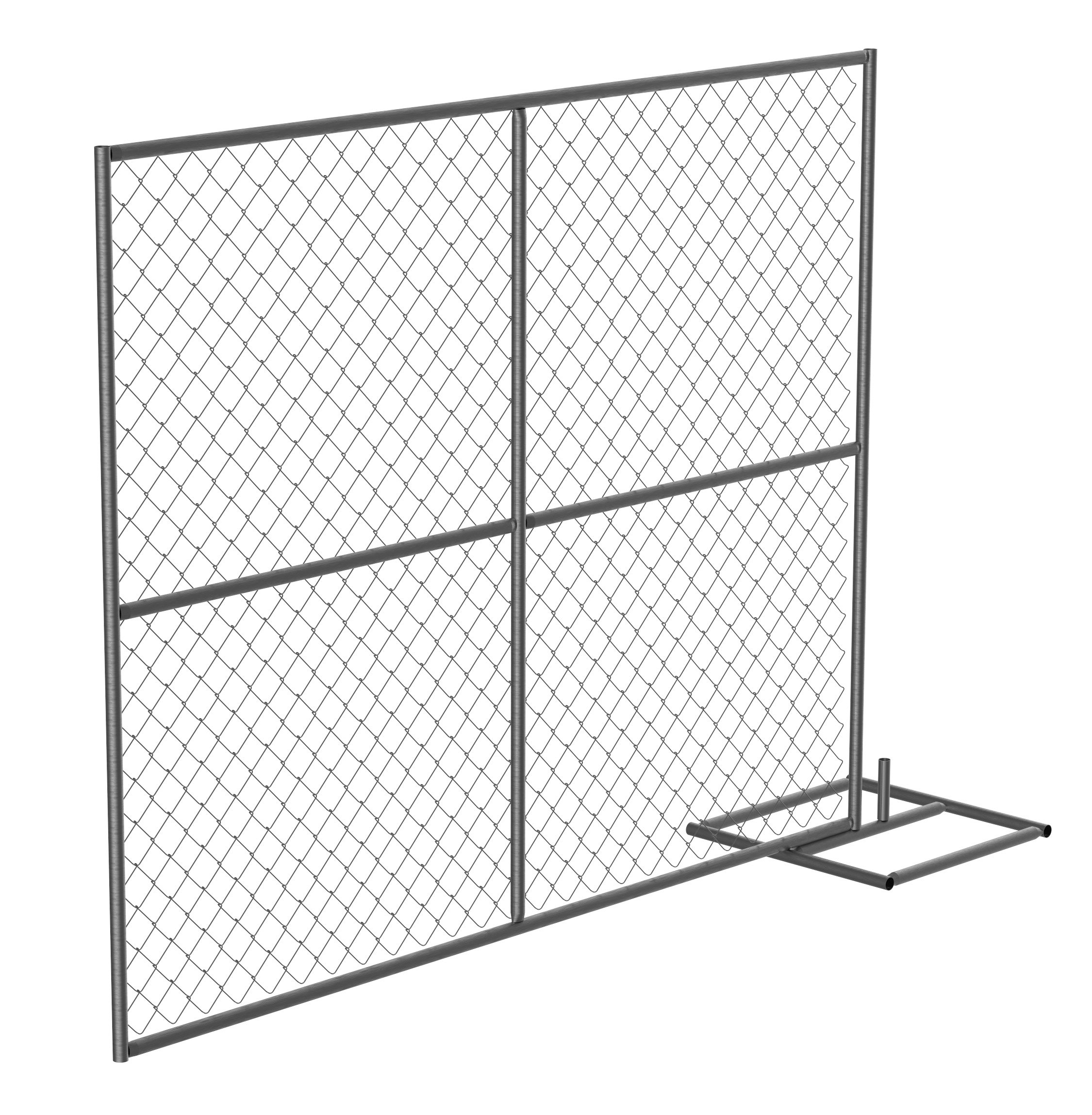 Vestil HRAIL-A-9072 Construction Barrier - Add-On Unit, 1.25'' Length X 102'' Width X 72'' Height, 44 lbs.