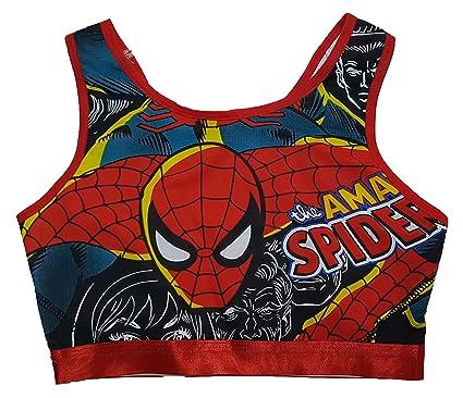 c6bc003a9c6eb Marvel Comics Spider-Man Sports Bra - Red -  Amazon.co.uk  Clothing