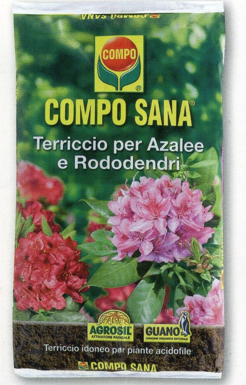 Compo Sana - Sustrato de calidad para azaleas, rododendros y plantas ácidas, saco de 80 litros: Amazon.es: Hogar