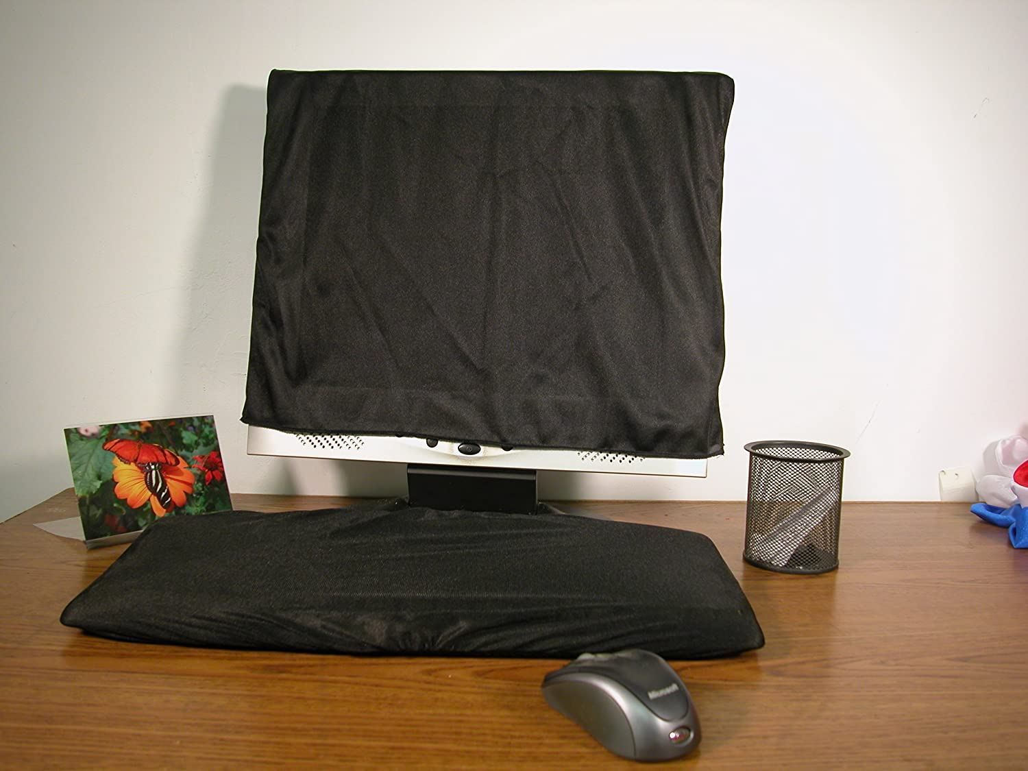 Keyboard and Monitor Dust Cover - Black (22) L.P. Distributing