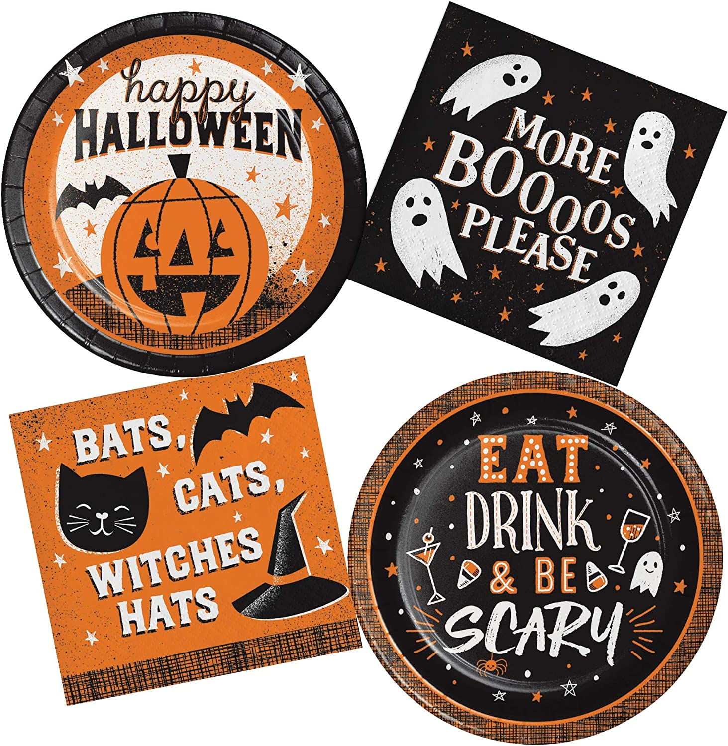 Halloween Words Plates and Napkin Sets