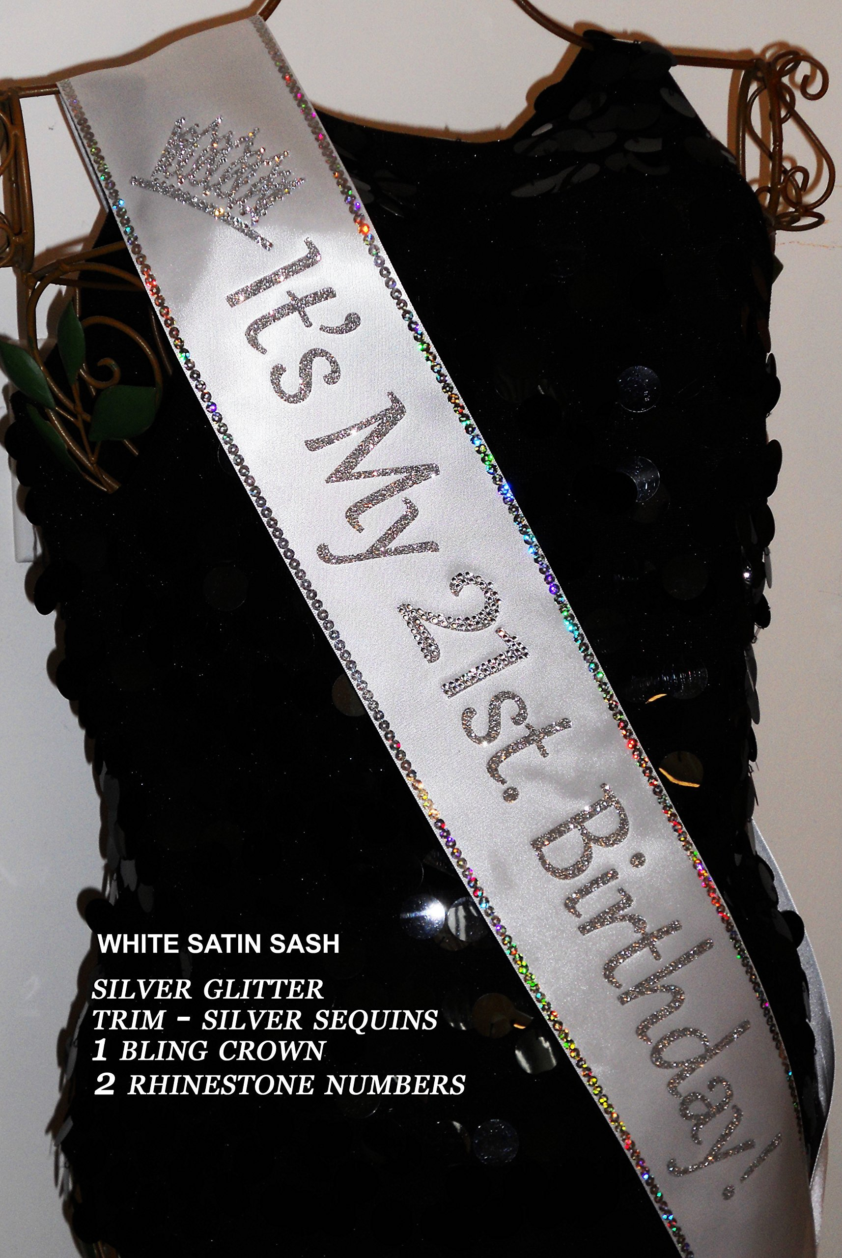 21st. Birthday Sash; 30, 40, 50, 60 Birthday Sash. Add your favorite Trim & Bling for extra sparkle at an additional cost. By SashANation