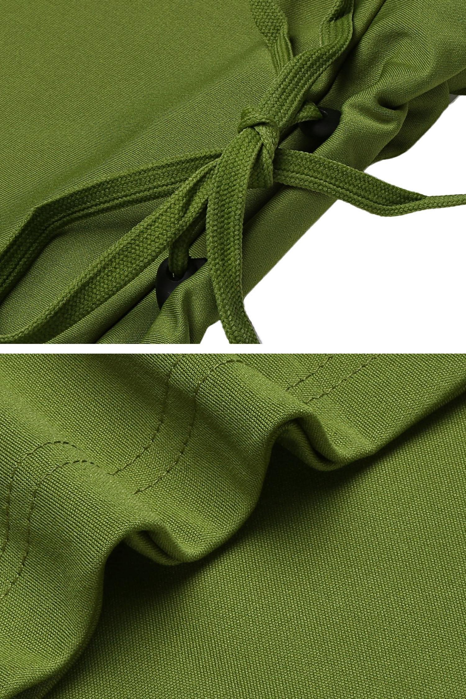 Upbeauty Women Sweatershirt Dress Drawstring Casual Solid Loose T-Shirt Midi Dress Green