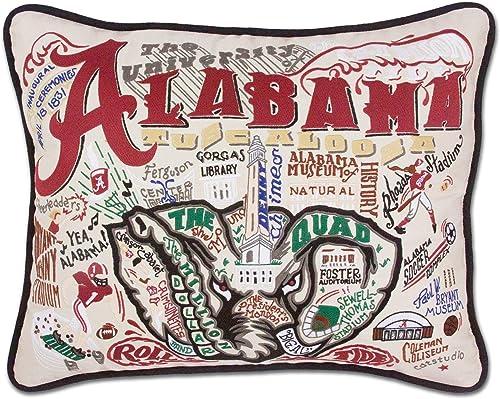 Catstudio University of Alabama Collegiate Embroidered Decorative Throw Pillow