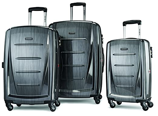 bd960b4176 Samsonite Winfield 2 Fashion 3 Piece Spinner Luggage Set Charcoal
