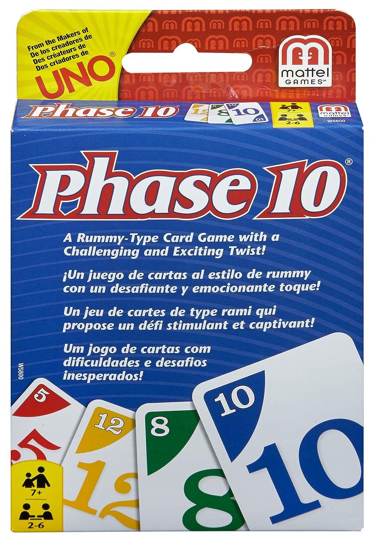 Phase 10 MATW5800 - Juego de Cartas Estilo Rummy